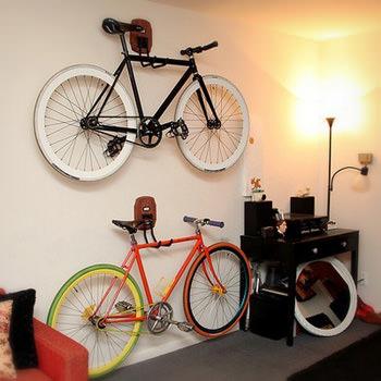 自転車と暮らすインテリアデザイン15選、駐車スペースは室内で。