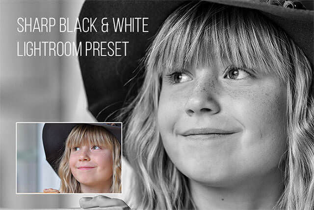 Sharp Black and White lightroom Preset