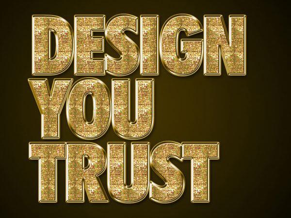決定版!フォトショップで作る4種類の黄金文字の作り方