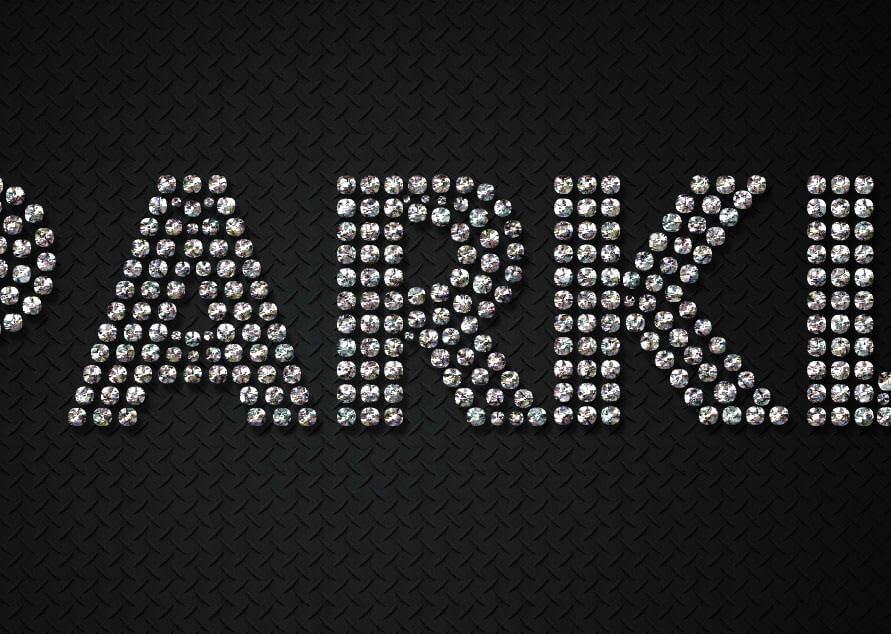 Photoshopでダイヤモンドのキラキラでゴージャスな文字エフェクトの作り方15