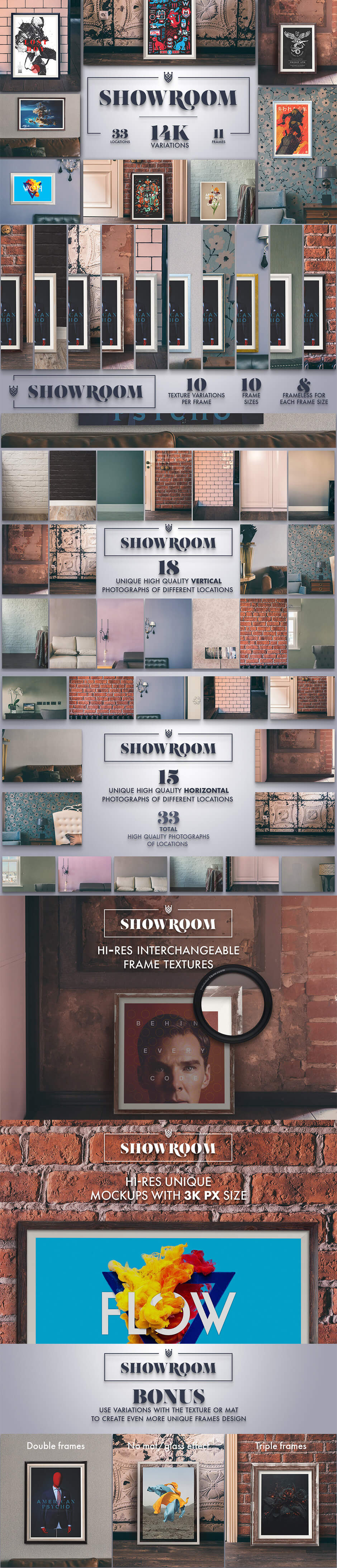 Showroom - Frames Mockups