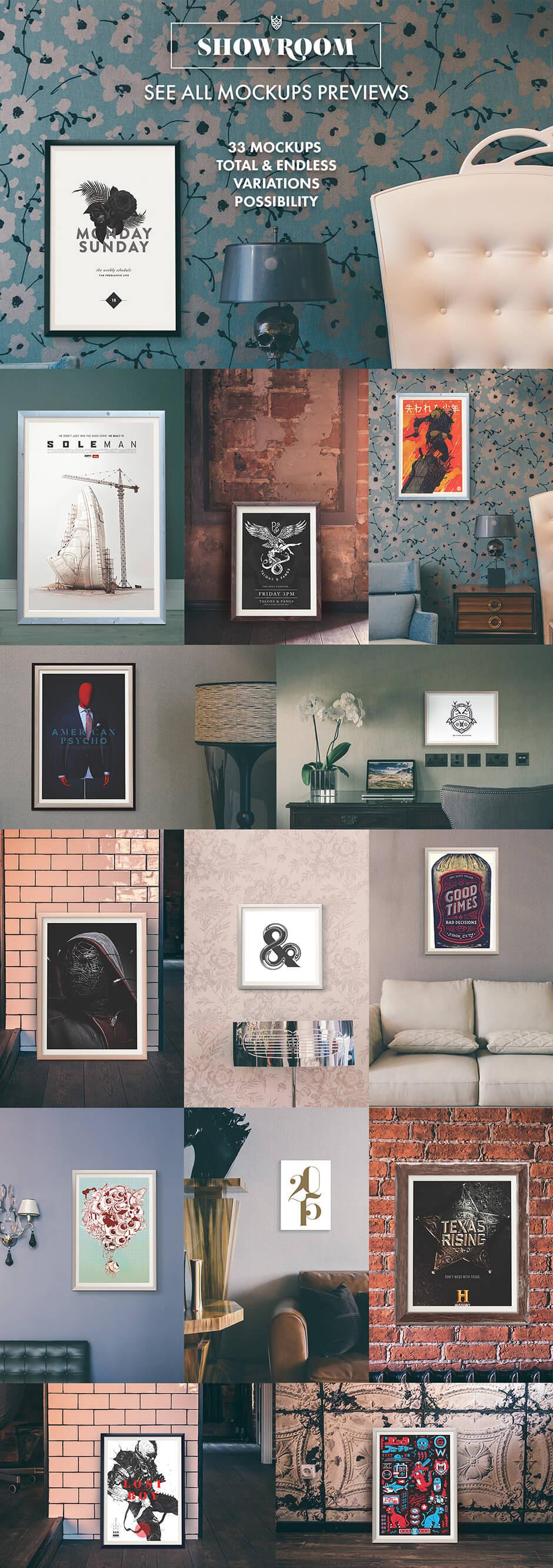 Showroom - Frames Mockups