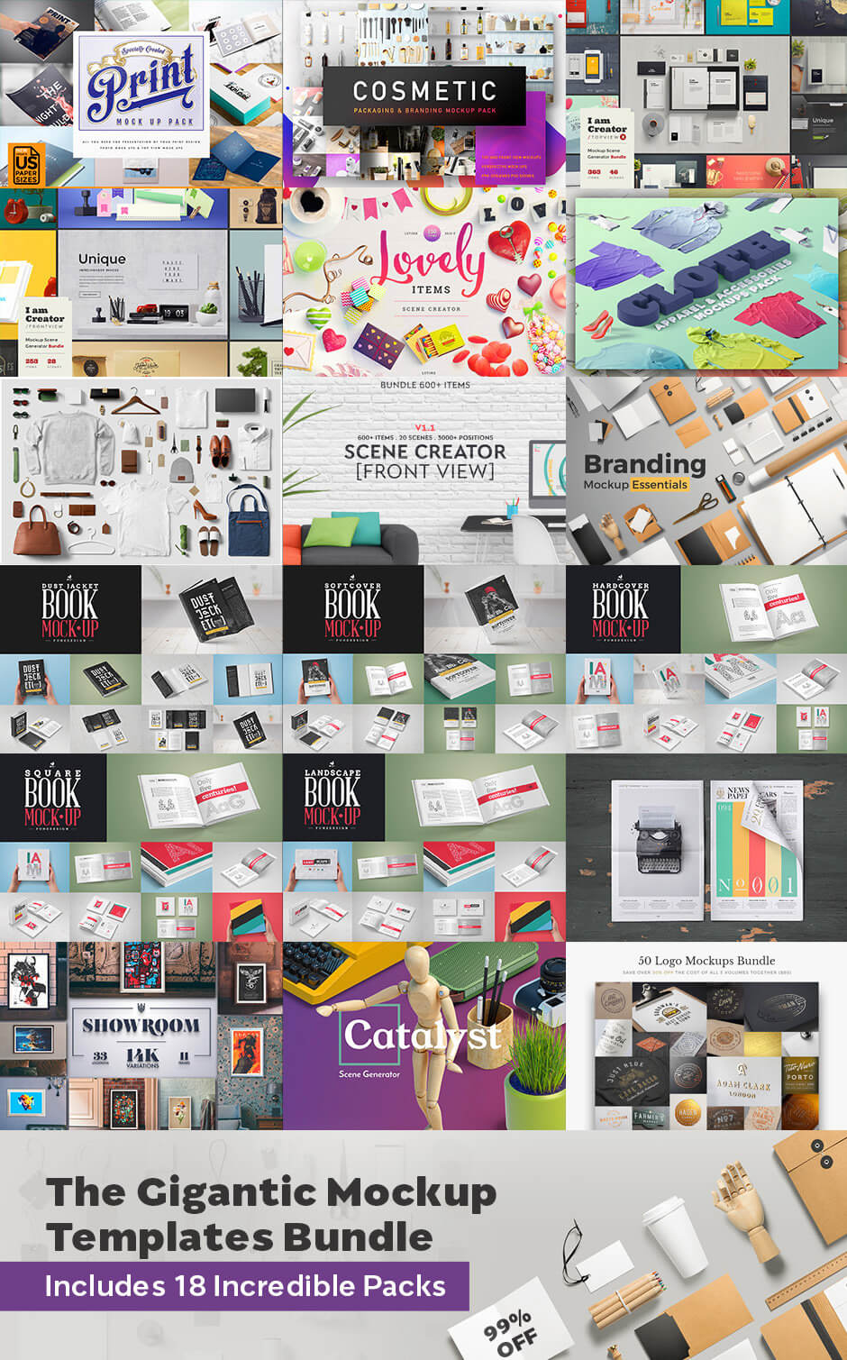Gigantic Mockup Template Bundle