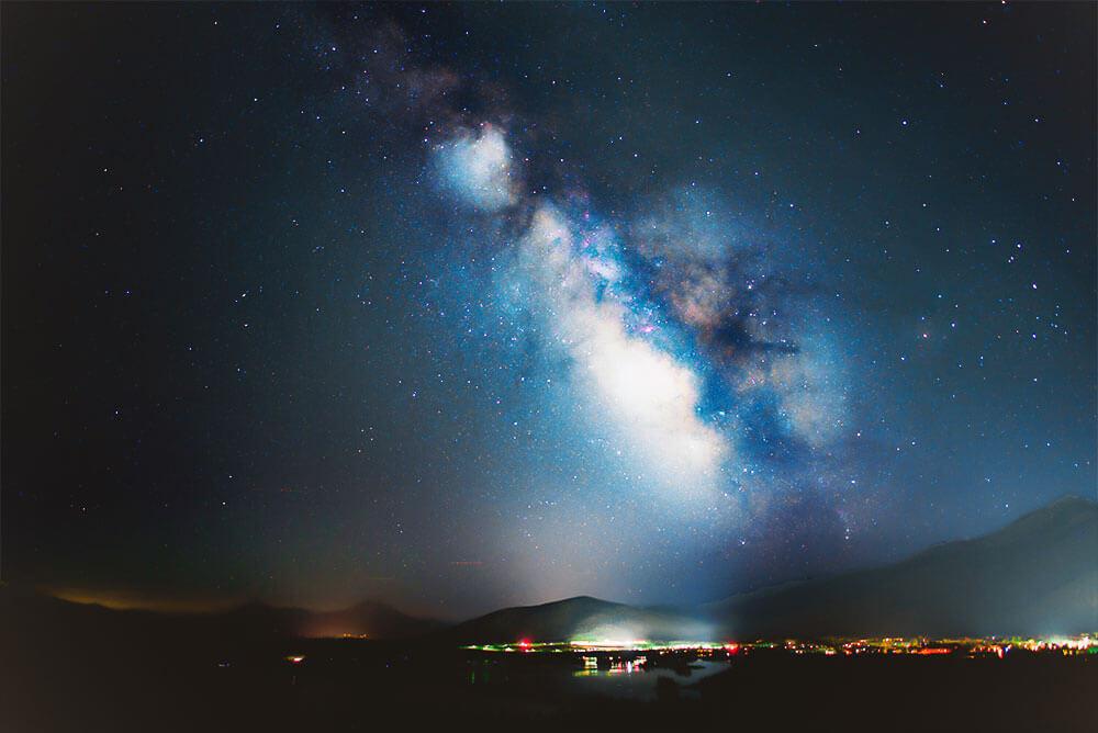 Photoshopでキラキラに輝く満点の星空を演出する方法18