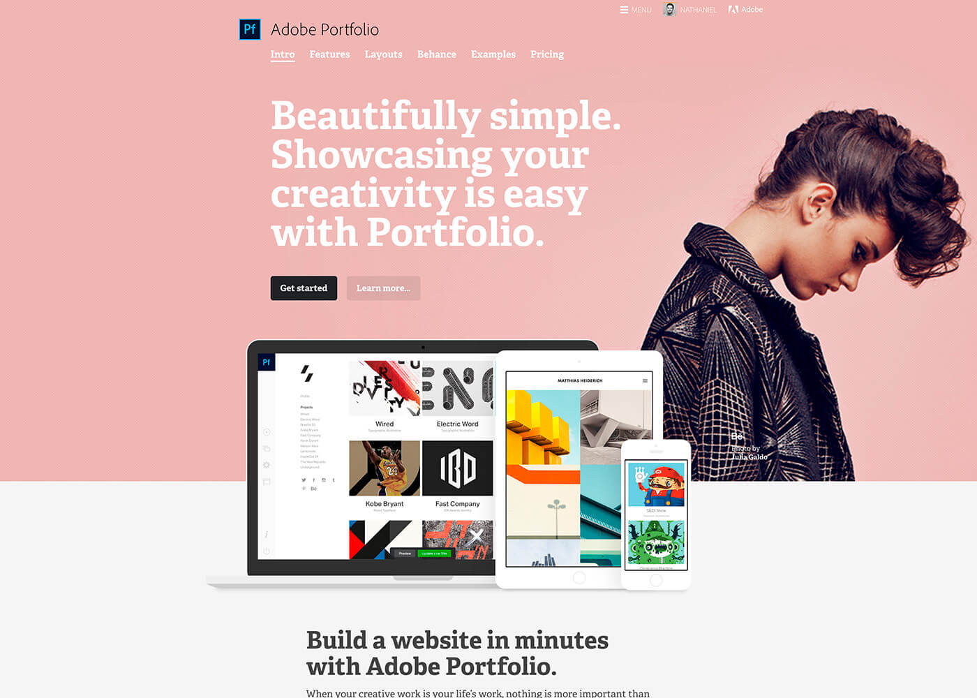 Adobe Portfolio の無料利用
