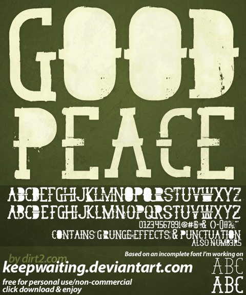 goodpeace_free_font_by_keepwaiting