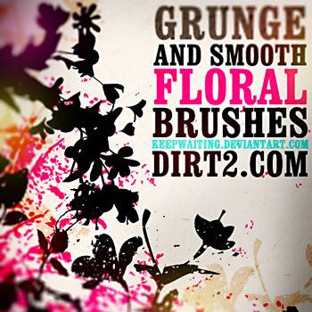 grungefloralbrush