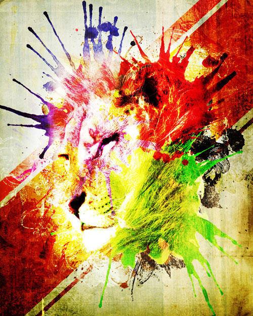 watercolor_lion
