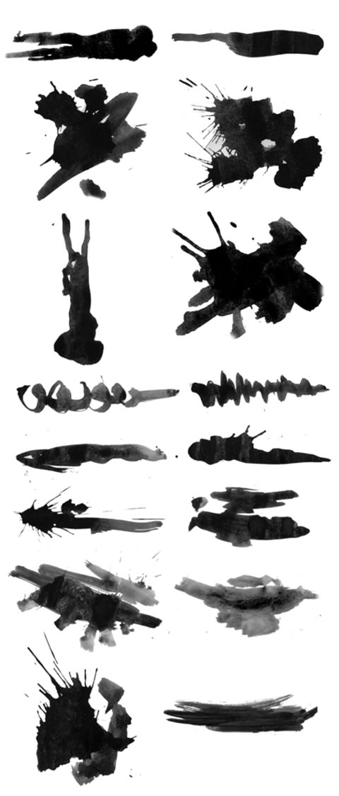 brush-strokes-spatters-preview-bw
