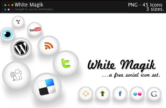 white-magik-free-social-icon-set