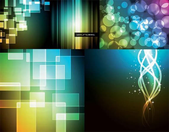 bokeh-abstract-vector-backgrounds