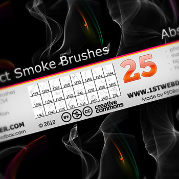 25abstractsmokebrush