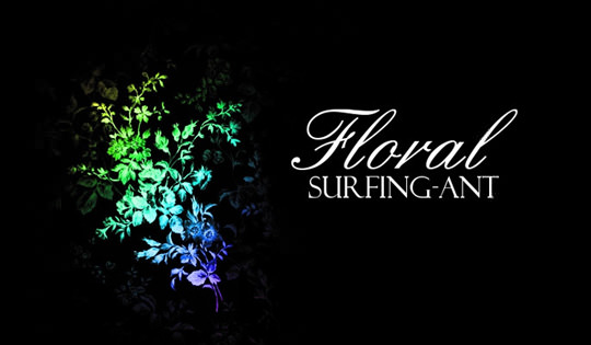 Floral-Brushes-surfing-ant
