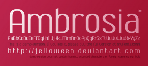 Font__AMBROSIA___demo_by_jelloween