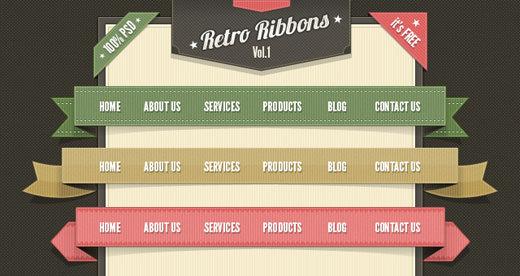 001_psd-web-elements-retro-ribbons-label-menu