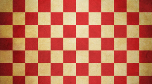 vintage_checkered_texture_30_red_yellow_preview
