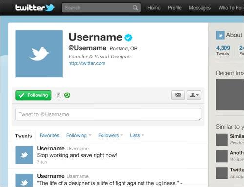 Twitterのインターフェースをパロディした無料psdテンプレート素材 Photoshopvip