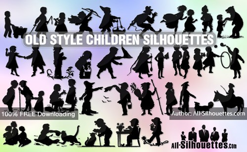old-style-childrens-silhouettes