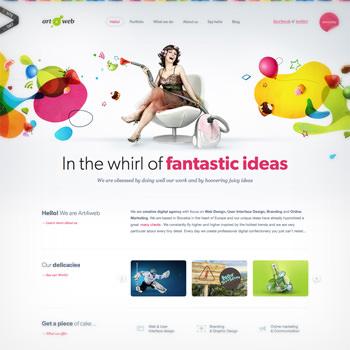 カラフルな色使いが魅力的なwebサイトデザイン35個まとめ photoshopvip