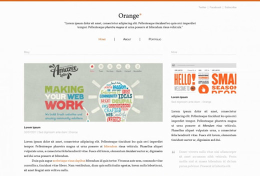 orange-blog-psd-template