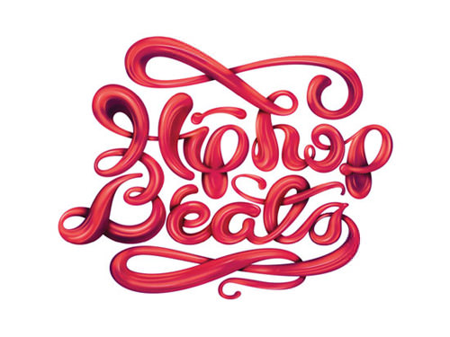 Hip-Hop-Beats-Lettering-Design