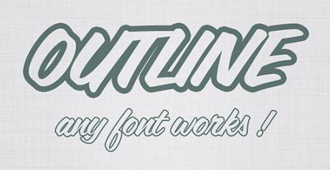 Outline-Font1