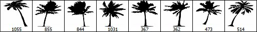 palm+tree+brush+set
