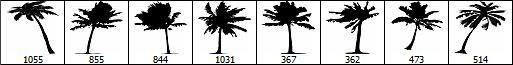 palm+tree+brush+set