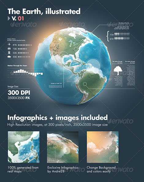V01_earth-illustrated-3D-world-layered-photoshop-psd-infographics-globe-realistic