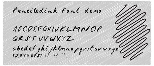 Penciledinh_font_demo_by_Ke_