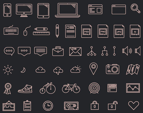 4.free-outline-icons