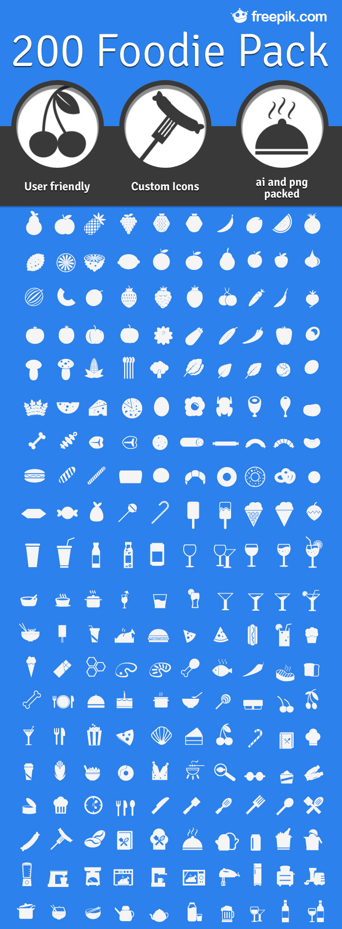 200 Foodie Icon Sample
