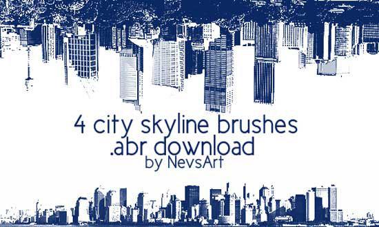 city-skyline-brushes-1
