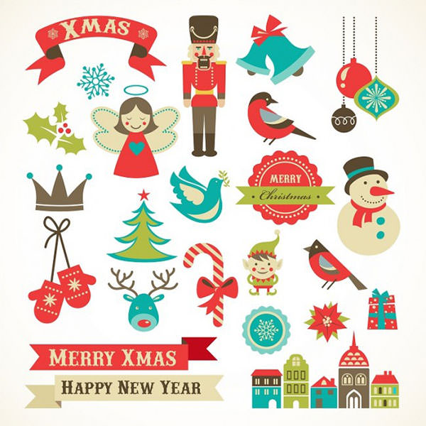 Set-of-Christmas-and-New-Year-elements-Vector-650x650