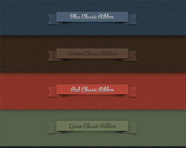 Psd-Ribbon-Classic-Set