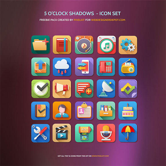 5 O'Clock Shadows Icon Set