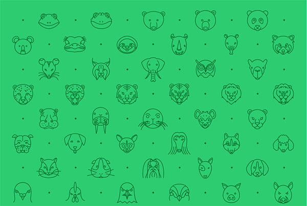 79-Animal-Line-Icon-Set