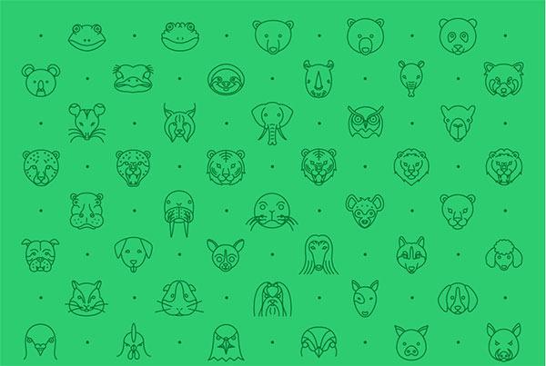 79-Animal-Line-Icon-Set