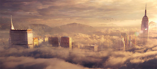 Create-a-Sky-City-using-Photoshop-L