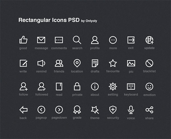 Rectangular-Icons-PSD