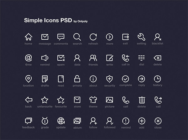 Simple-Line-Icon-PSD