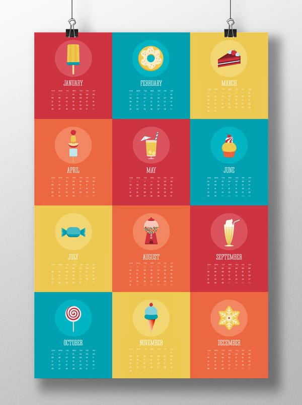 Calendar Concepts Graphic Design : デザインが素敵!クリエイティブな 年カレンダーデザイン 個まとめ photoshopvip