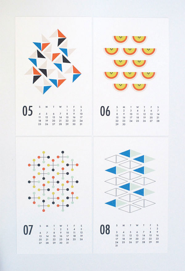 Circular Calendar of the Year 2014 Art Print