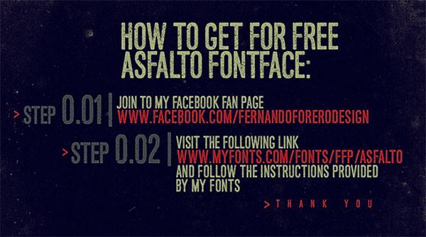 Asfalto-free-font