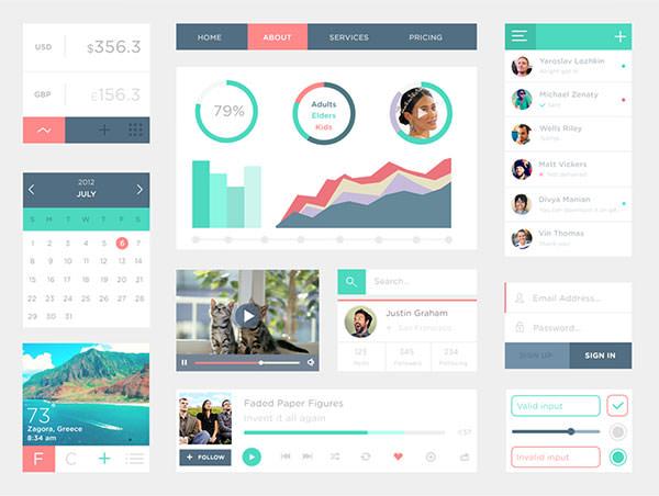Free-PSD-UI-Kit3