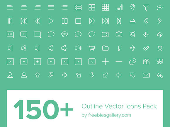 150-Outline-Vector-Icons-Pack