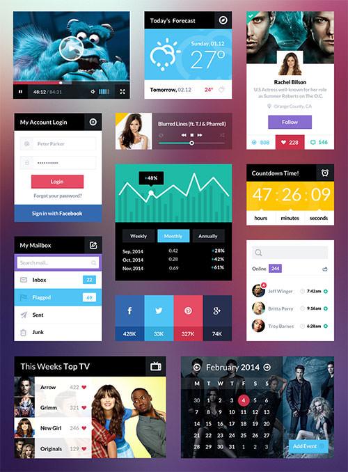 Free-UI-Kit-PSD