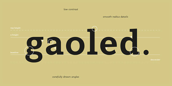 gaolded_font
