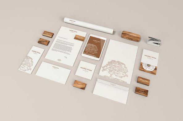 Stationery MockUp - Wood Edition