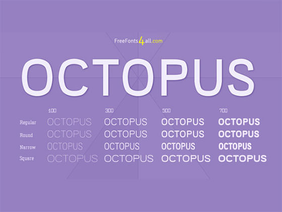 octopus-free-font